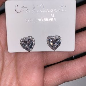 Jewelry - ✨ NWT Sterling Silver Heart Studs